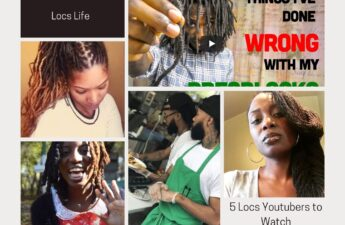 5 Youtubers to Watch for Locs Journe. Collage of 5 different locs youtubersy